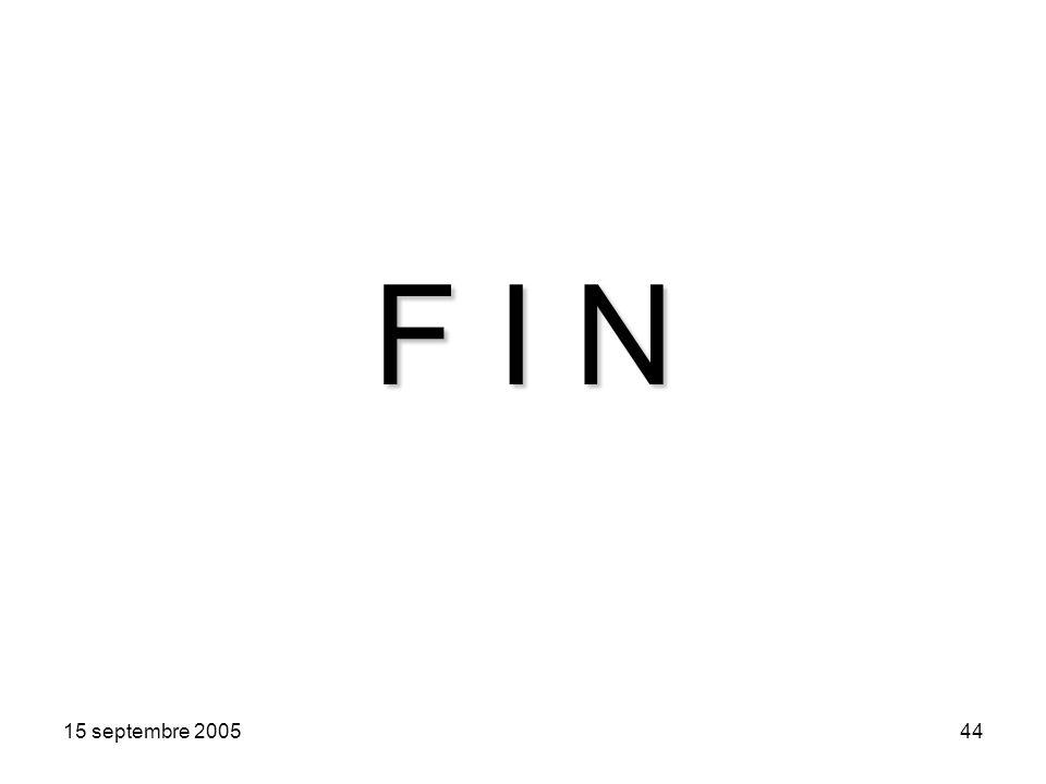 15 septembre 200544 F I N