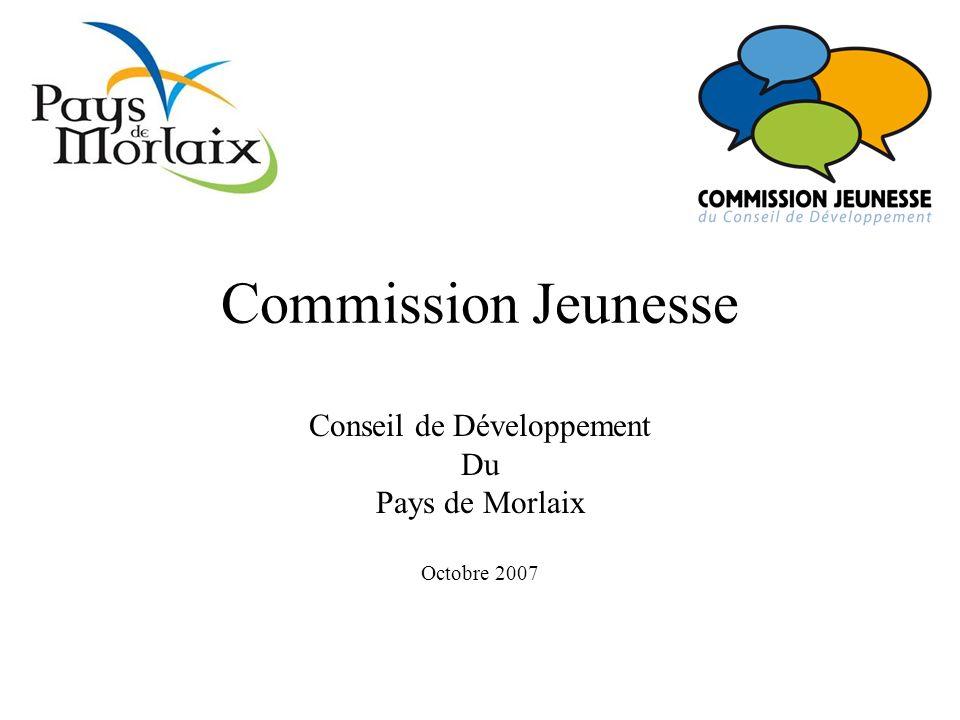 Commission Jeunesse Conseil de Développement Du Pays de Morlaix Octobre 2007
