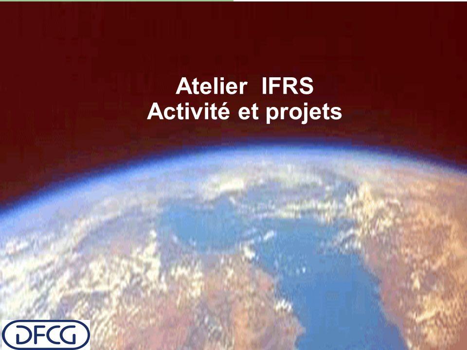 Atelier IFRS Activité et projets
