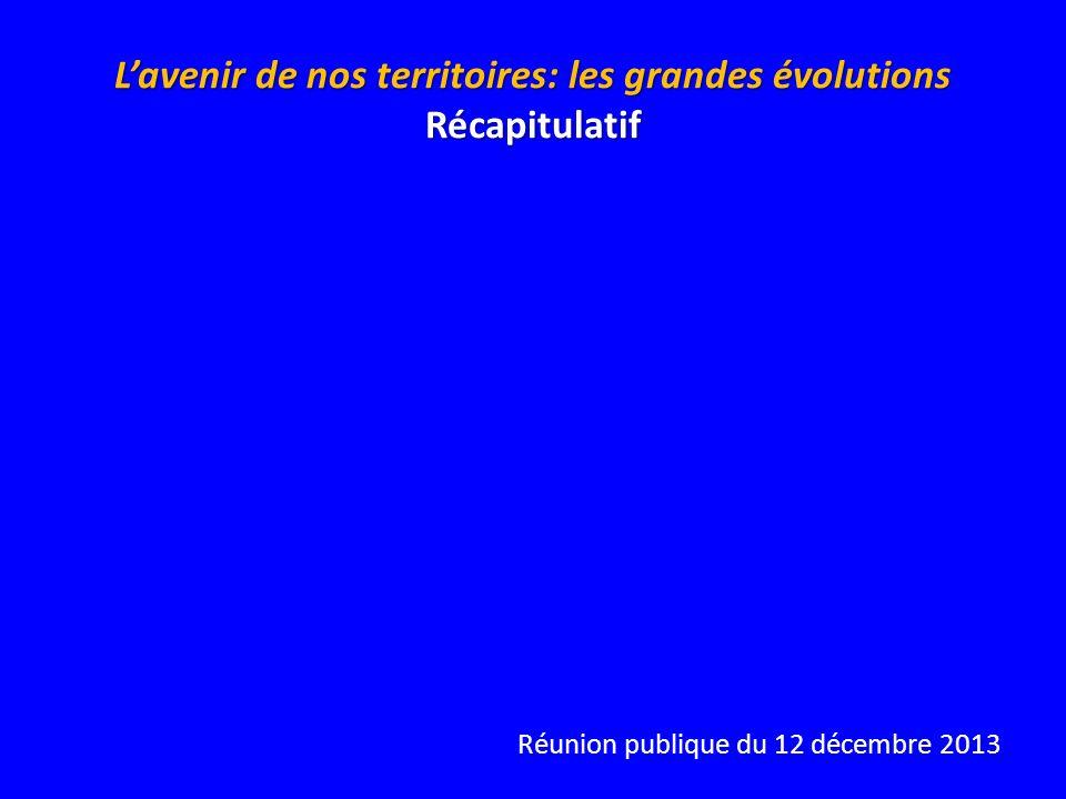 Réunion publique du 12 décembre 2013 Lavenir de nos territoires: les grandes évolutions Récapitulatif