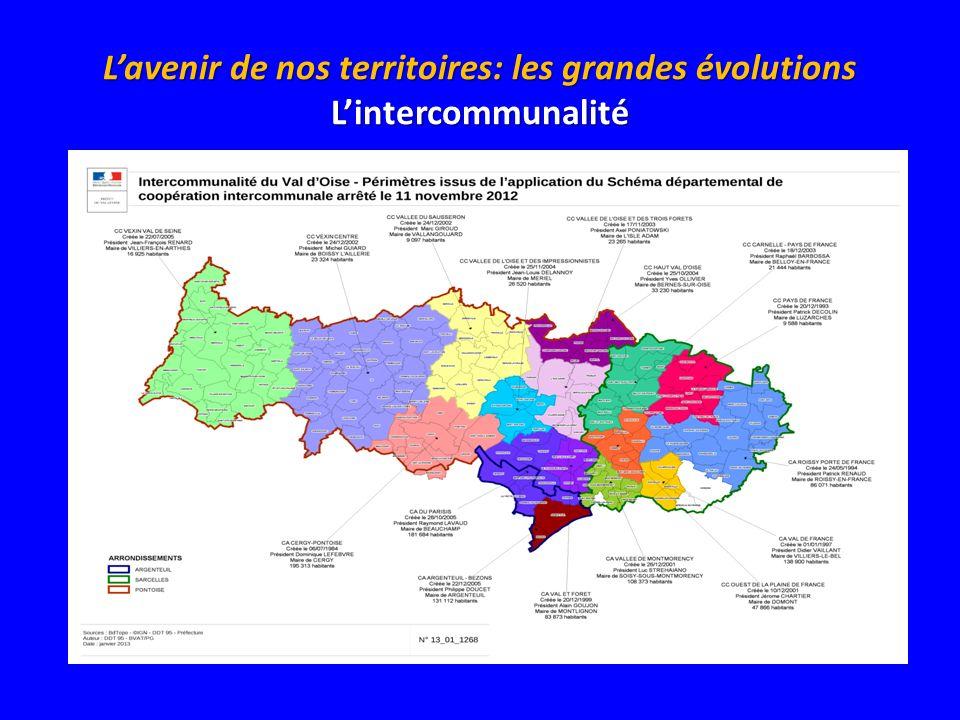 Lavenir de nos territoires: les grandes évolutions Lintercommunalité