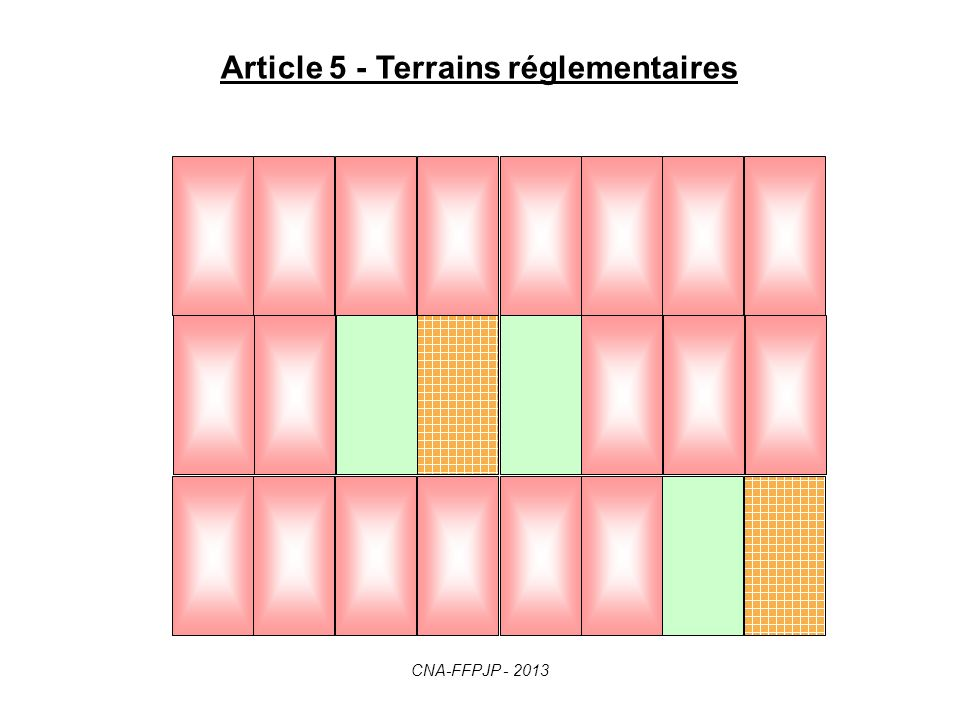 Article 5 - Terrains réglementaires CNA-FFPJP - 2013
