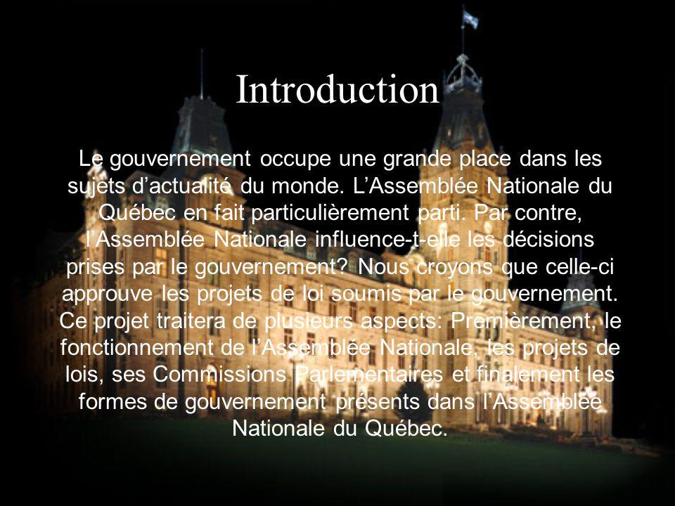 Introduction Le gouvernement occupe une grande place dans les sujets dactualité du monde.