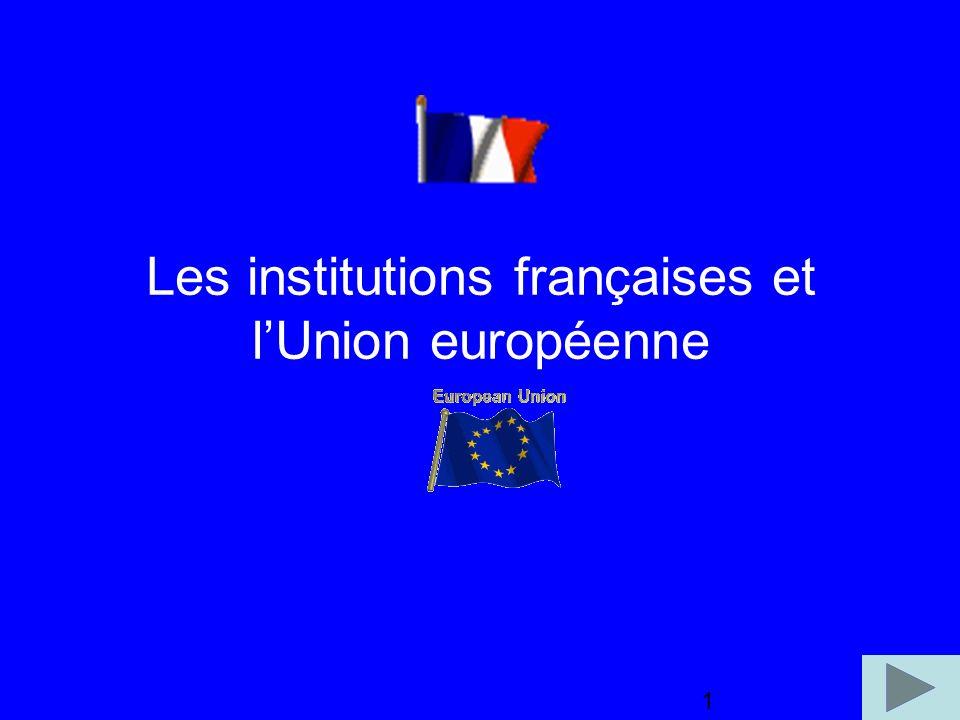 1 Les institutions françaises et lUnion européenne 1