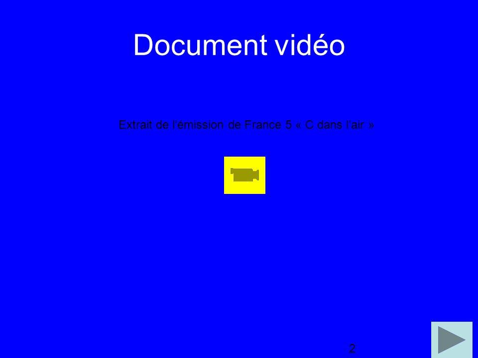 2 Document vidéo 2 Extrait de lémission de France 5 « C dans lair »