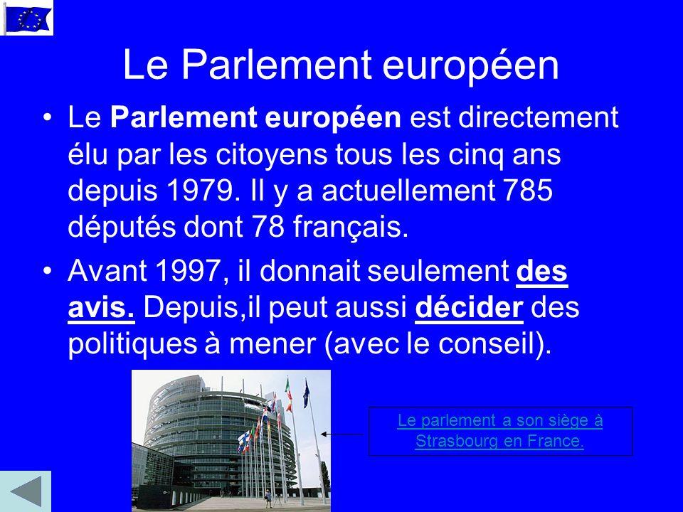 Le Parlement européen Le Parlement européen est directement élu par les citoyens tous les cinq ans depuis 1979.