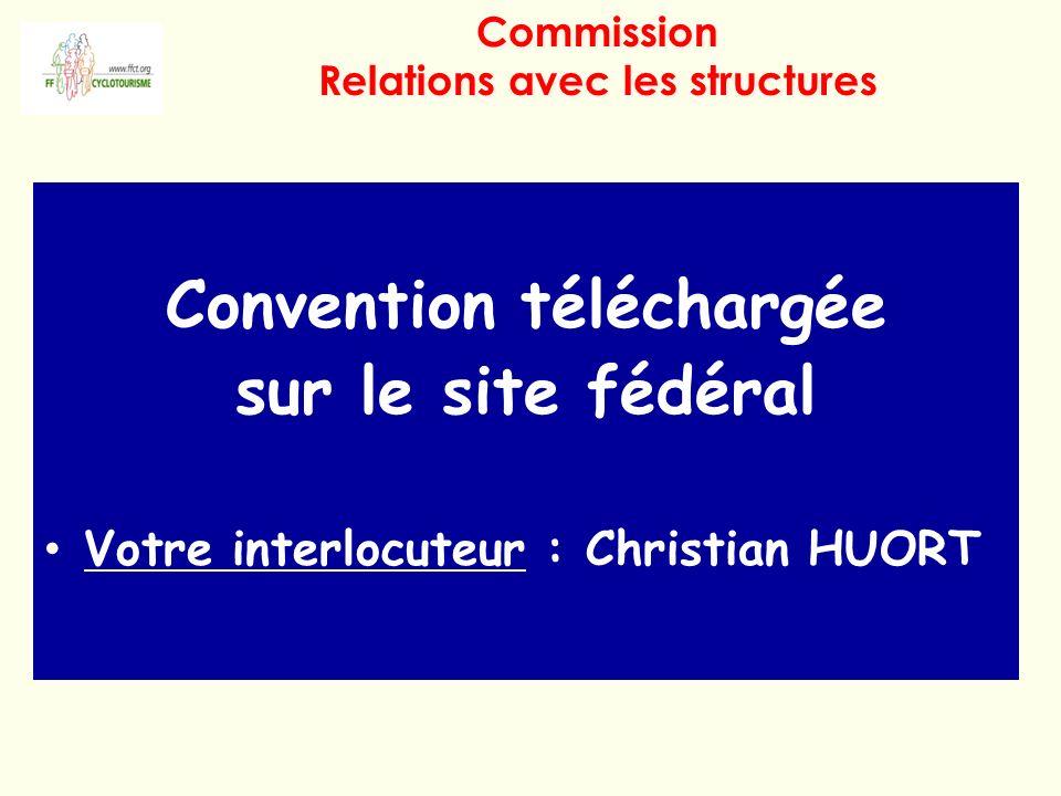 Convention téléchargée sur le site fédéral Votre interlocuteur : Christian HUORT S