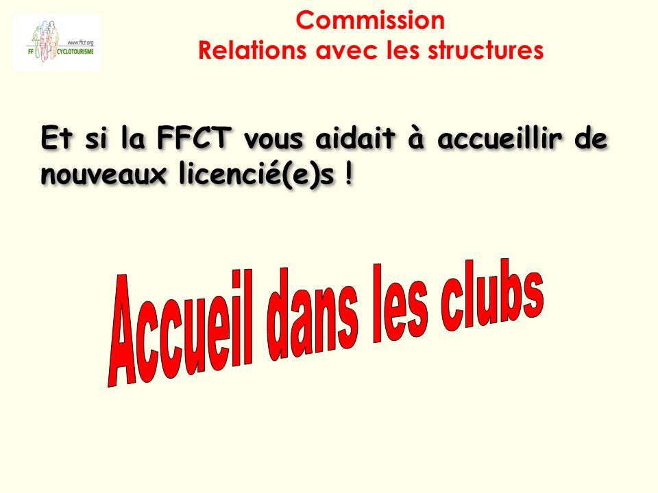 Commission Relations avec les structures Et si la FFCT vous aidait à accueillir de nouveaux licencié(e)s !