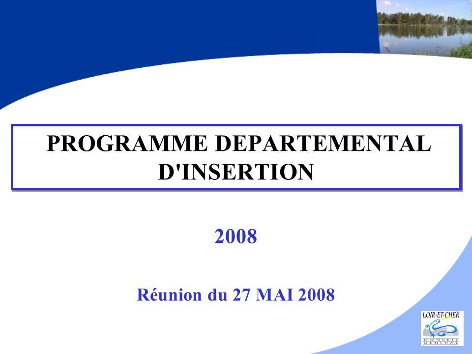 PROGRAMME DEPARTEMENTAL D'INSERTION 2008 Réunion du 27 MAI 2008