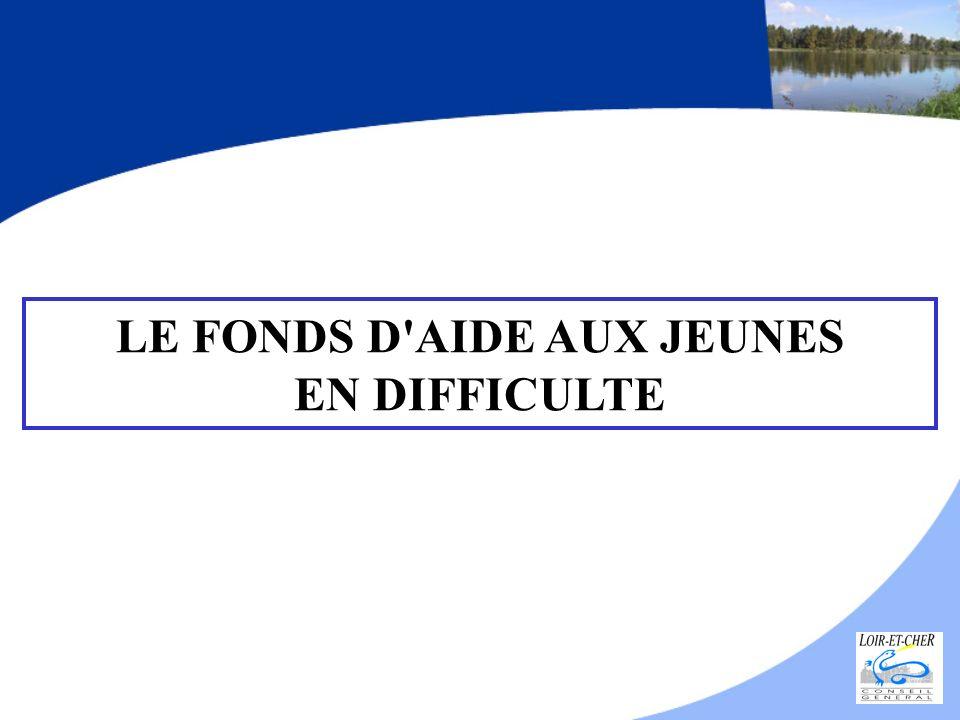 LE FONDS D'AIDE AUX JEUNES EN DIFFICULTE