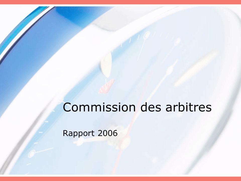 Commission des arbitres Rapport 2006