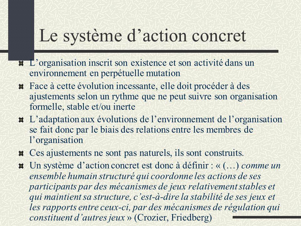 Le système daction concret Lorganisation inscrit son existence et son activité dans un environnement en perpétuelle mutation Face à cette évolution in