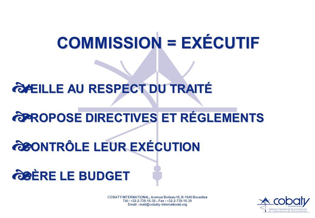 COBATY INTERNATIONAL, Avenue Boileau 16, B-1040 Bruxelles Tél : +32-2-739-15-30 – Fax : +32-2-739-15-39 Email : mail@cobaty-international.org COMMISSION PRODI