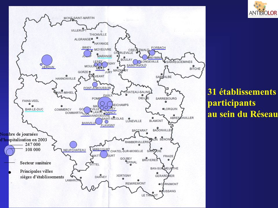 31 établissements participants au sein du Réseau
