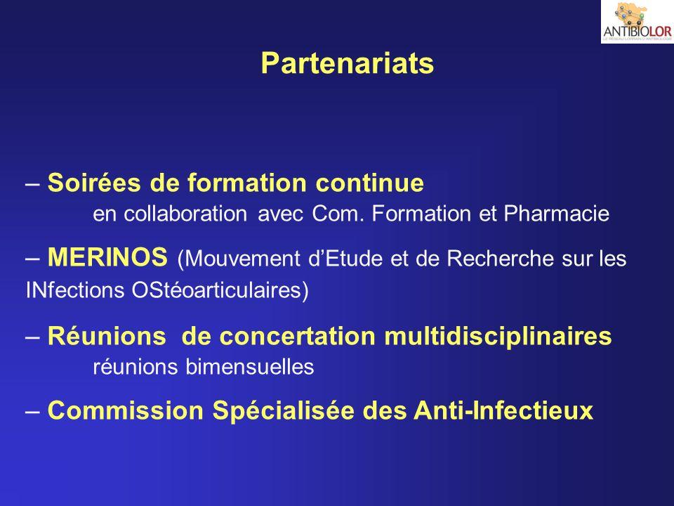 Partenariats – Soirées de formation continue en collaboration avec Com. Formation et Pharmacie – MERINOS (Mouvement dEtude et de Recherche sur les INf