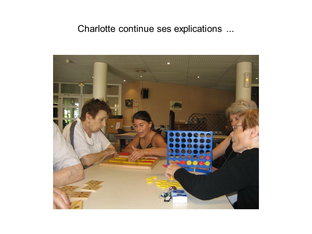 Charlotte continue ses explications...