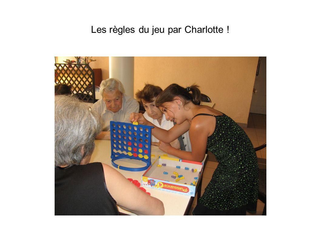 Les règles du jeu par Charlotte !