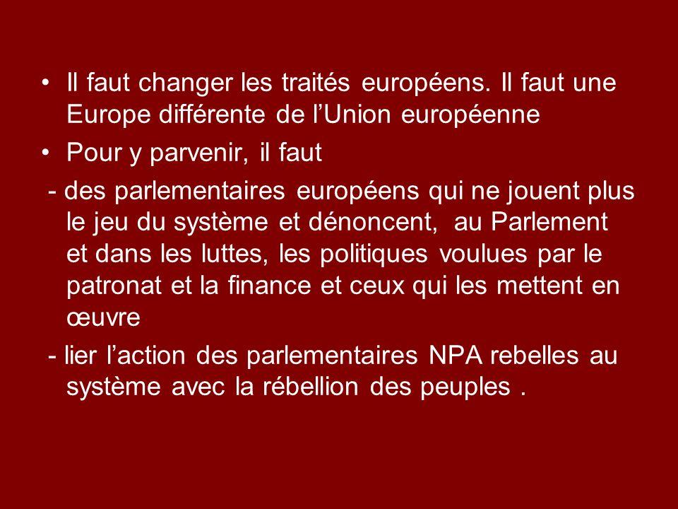 Il faut changer les traités européens.