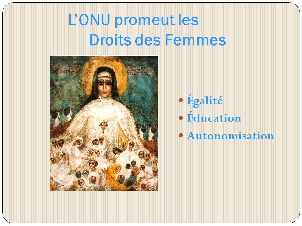 LONU promeut les Droits des Femmes Égalité Éducation Autonomisation