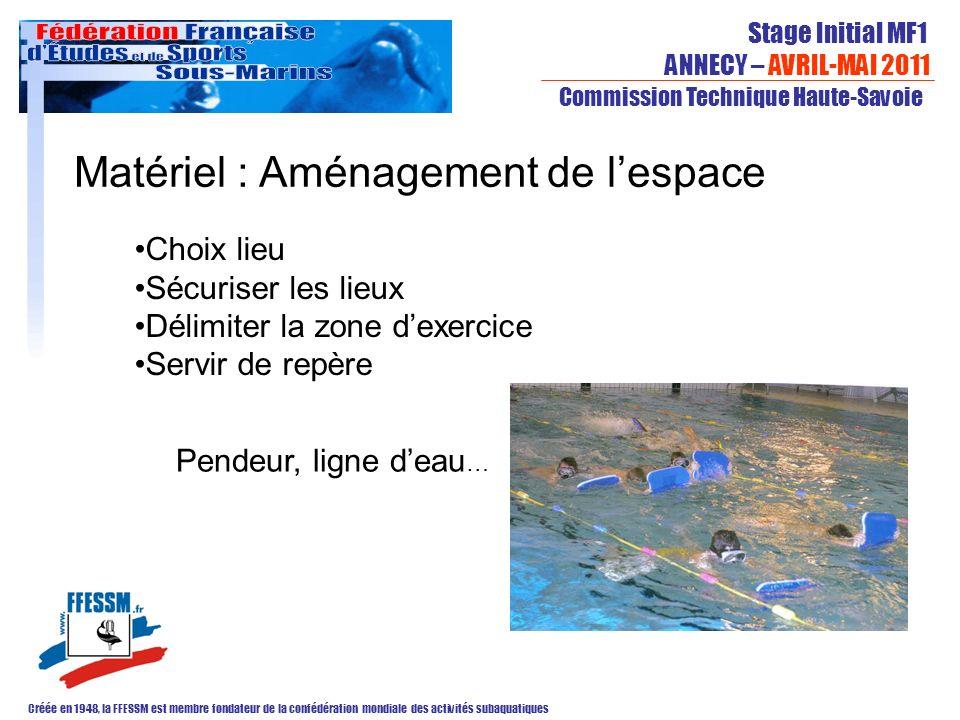 Stage Initial MF1 ANNECY – AVRIL-MAI 2011 Créée en 1948, la FFESSM est membre fondateur de la confédération mondiale des activités subaquatiques Commi