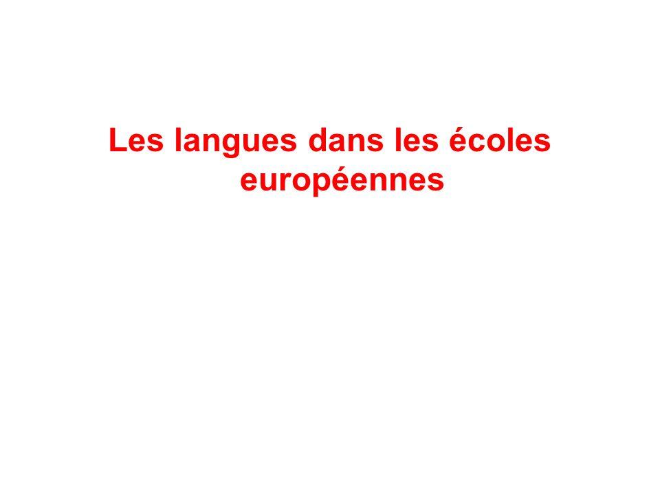 Les langues dans les écoles européennes