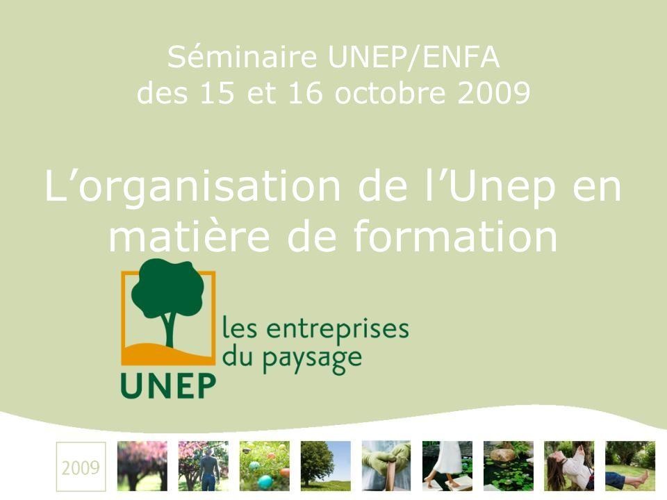 Séminaire UNEP/ENFA des 15 et 16 octobre 2009 Lorganisation de lUnep en matière de formation