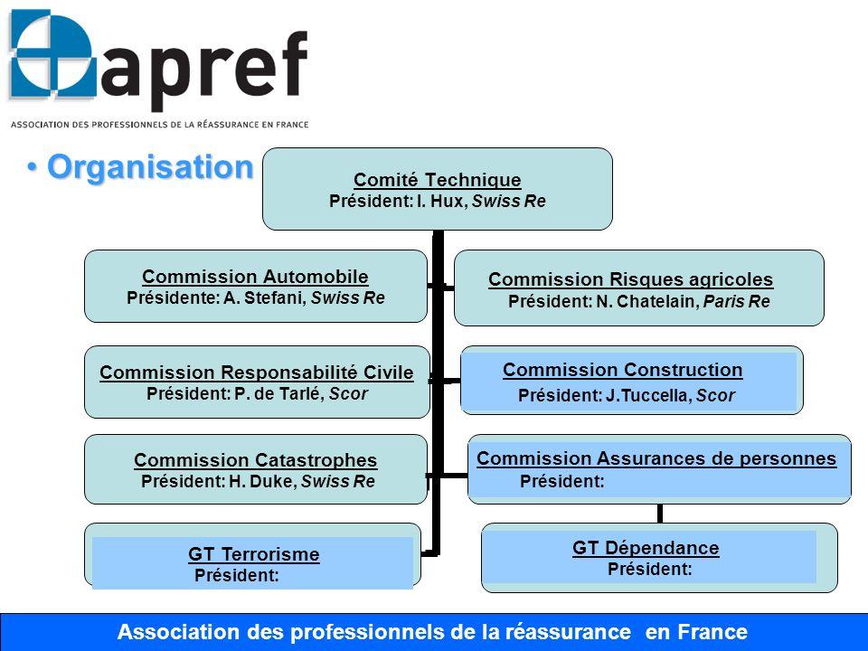 Association des Professionnels de la Réassurance en France Association des professionnels de la réassurance en France Organisation Organisation Commis