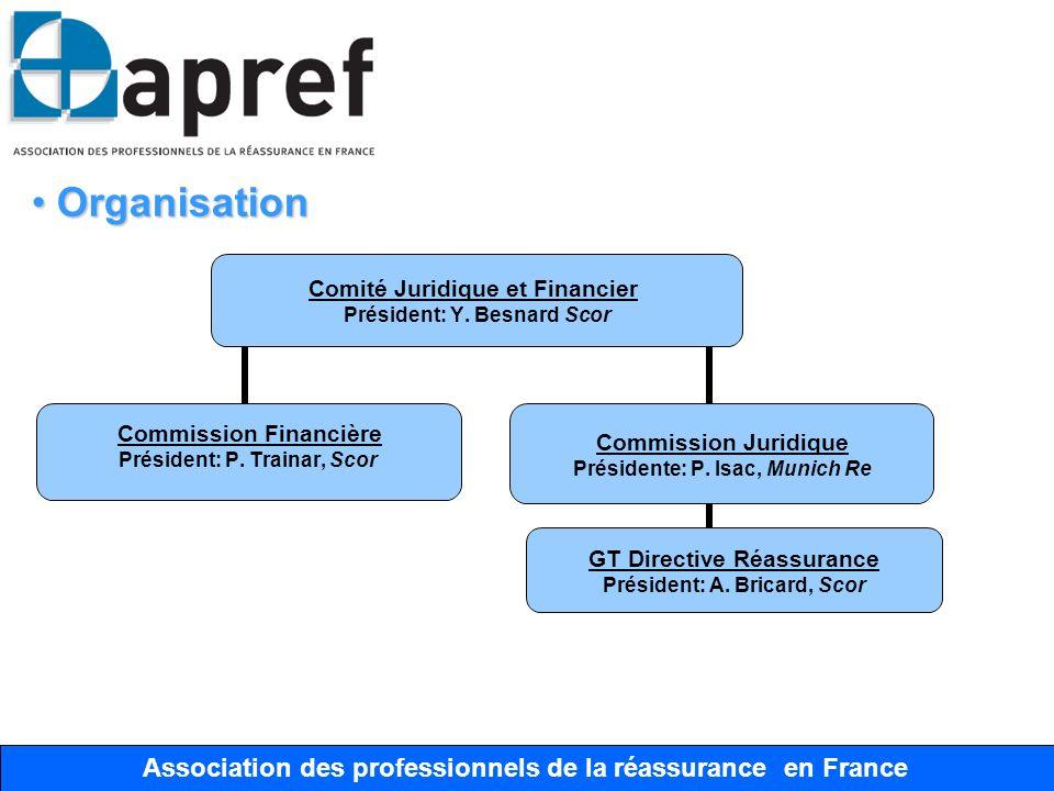 Association des Professionnels de la Réassurance en France Association des professionnels de la réassurance en France Organisation Organisation Comité