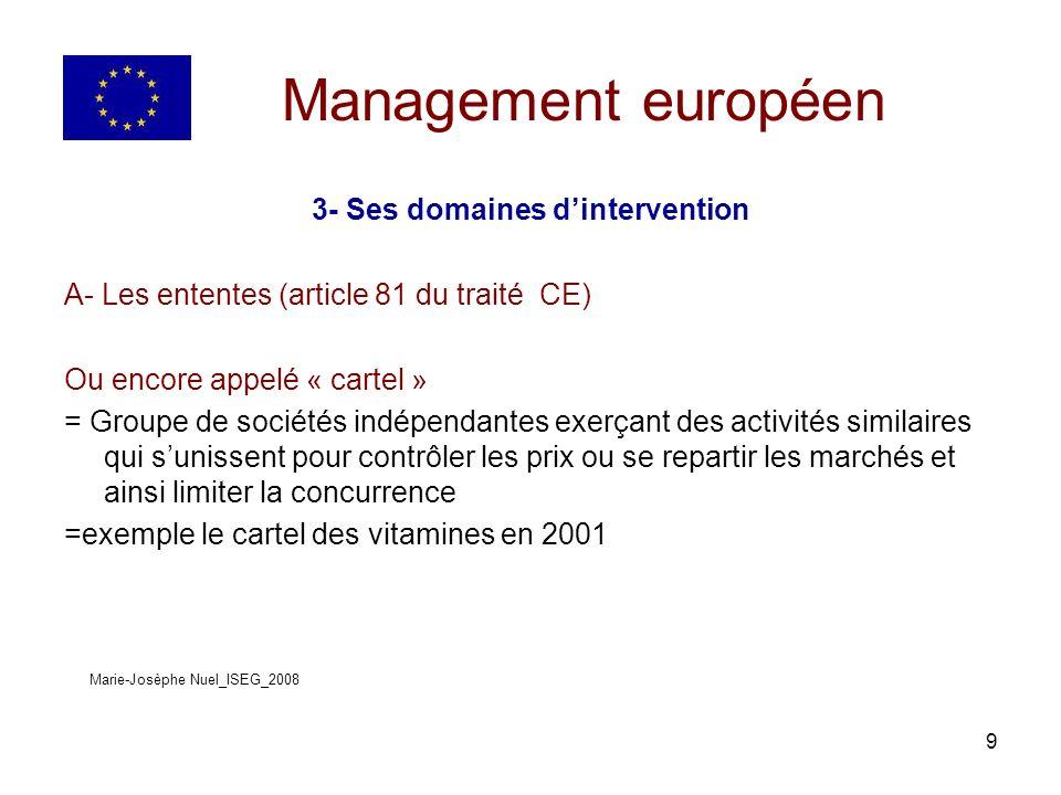 30 Management européen 4- Ouverture des marchés publics à la concurrence Article sur le blog, commentaires en cours LEXPRESS 27/06/2007 « Monopole : Bruxelles menace le PMU et la française des jeux » Marie-Josèphe Nuel_ISEG_2008