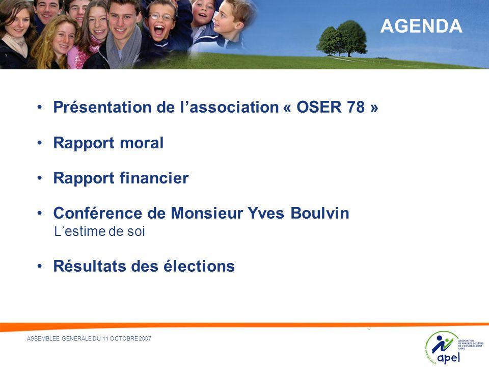 3 - NOM DU DÉPARTEMENT ÉMETTEUR ET/OU RÉDACTEUR - 21/05/2014 ASSEMBLEE GENERALE DU 11 OCTOBRE 2007