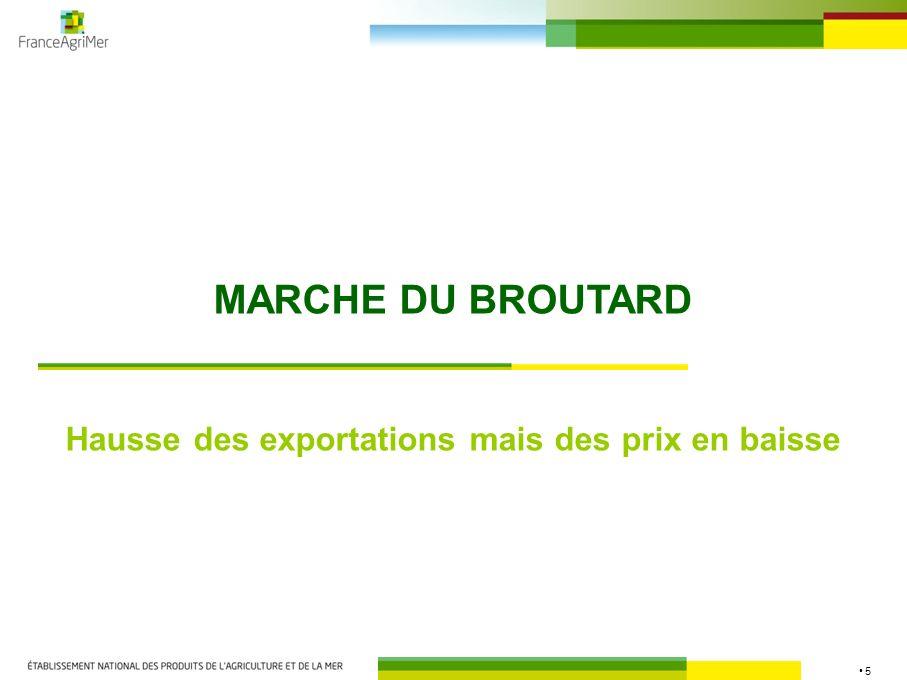 5 MARCHE DU BROUTARD Hausse des exportations mais des prix en baisse