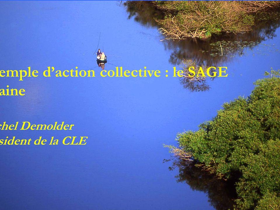 Exemple daction collective : le SAGE Vilaine Michel Demolder Président de la CLE