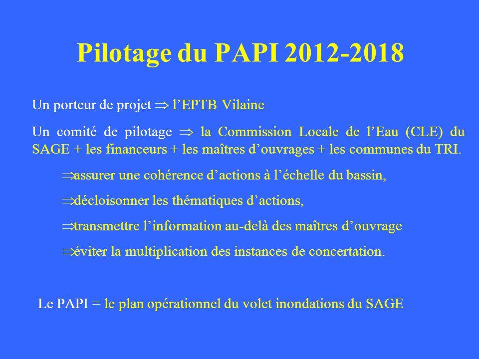 Un porteur de projet lEPTB Vilaine Un comité de pilotage la Commission Locale de lEau (CLE) du SAGE + les financeurs + les maîtres douvrages + les com