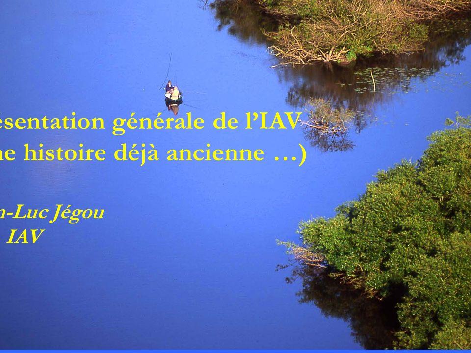 intro Présentation générale de lIAV (une histoire déjà ancienne …) Jean-Luc Jégou Dir. IAV