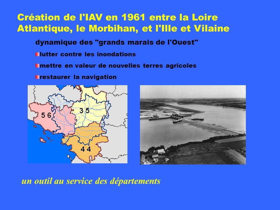 Présentation IAV Création de l'IAV en 1961 entre la Loire Atlantique, le Morbihan, et l'Ille et Vilaine dynamique des