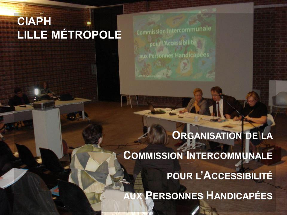 CIAPH DE LILLE MÉTROPOLE Organisation de la Commission Intercommunale pour lAccessibilité aux Personnes Handicapées CIAPH LILLE MÉTROPOLE O RGANISATIO