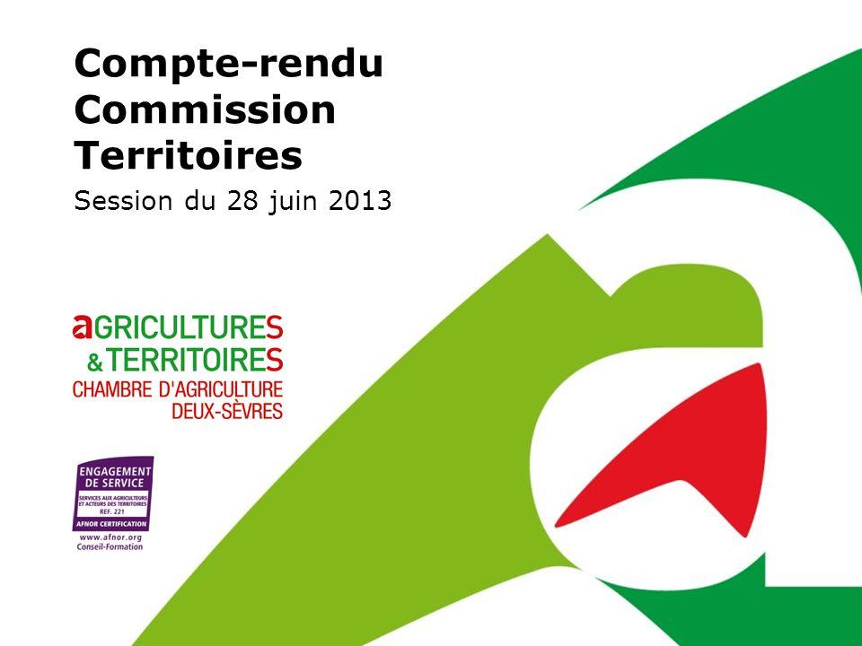 Compte-rendu Commission Territoires Session du 28 juin 2013