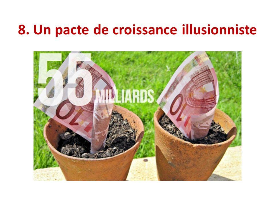 8. Un pacte de croissance illusionniste