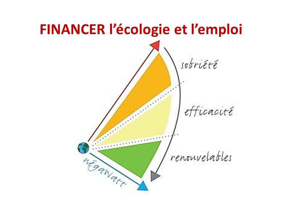 FINANCER lécologie et lemploi