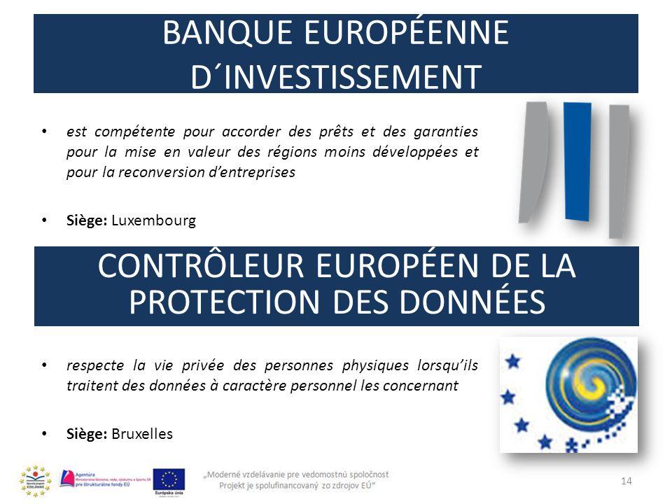 BANQUE EUROPÉENNE D´INVESTISSEMENT est compétente pour accorder des prêts et des garanties pour la mise en valeur des régions moins développées et pou