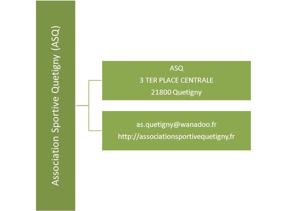 Association Sportive Quetigny (ASQ) ASQ 3 TER PLACE CENTRALE 21800 Quetigny as.quetigny@wanadoo.fr http://associationsportivequetigny.fr