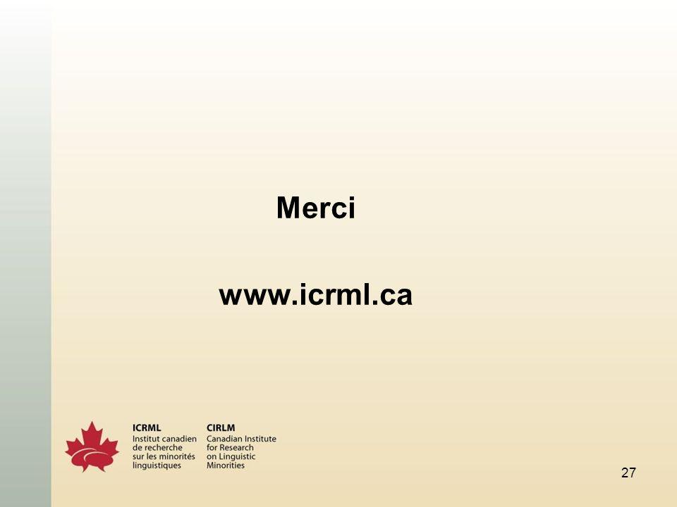 Merci www.icrml.ca 27