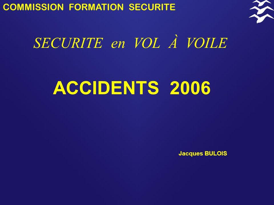 COMMISSION FORMATION SECURITE SECURITE en VOL À VOILE 2006 Le but du REC est d'identifier des faiblesses ou des défaillances du système de la sécurité