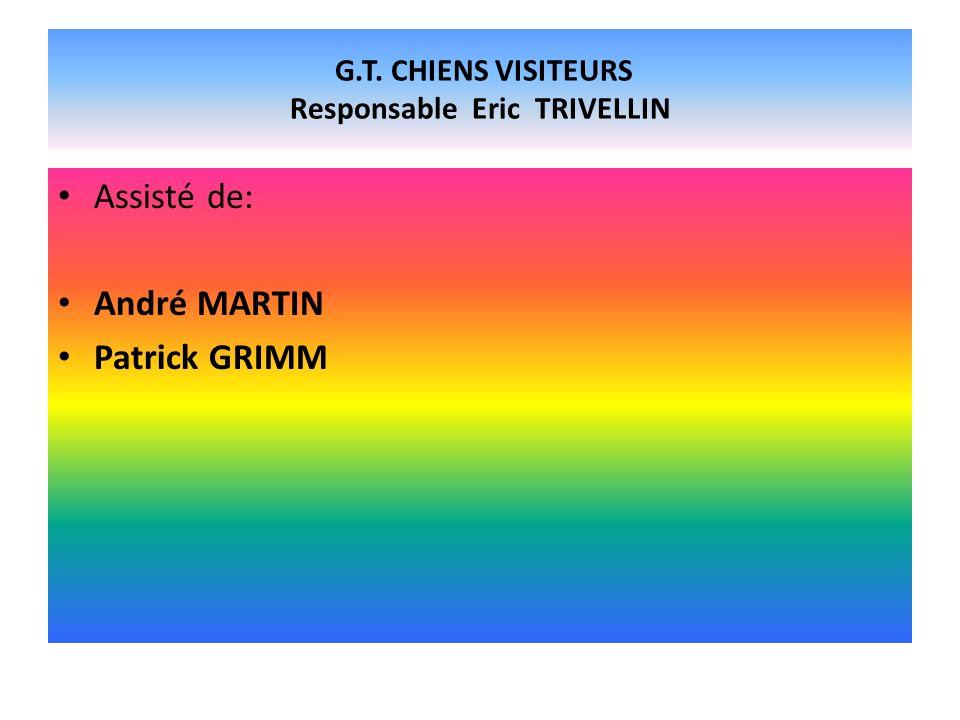 G.T. CHIENS VISITEURS Responsable Eric TRIVELLIN Assisté de: André MARTIN Patrick GRIMM