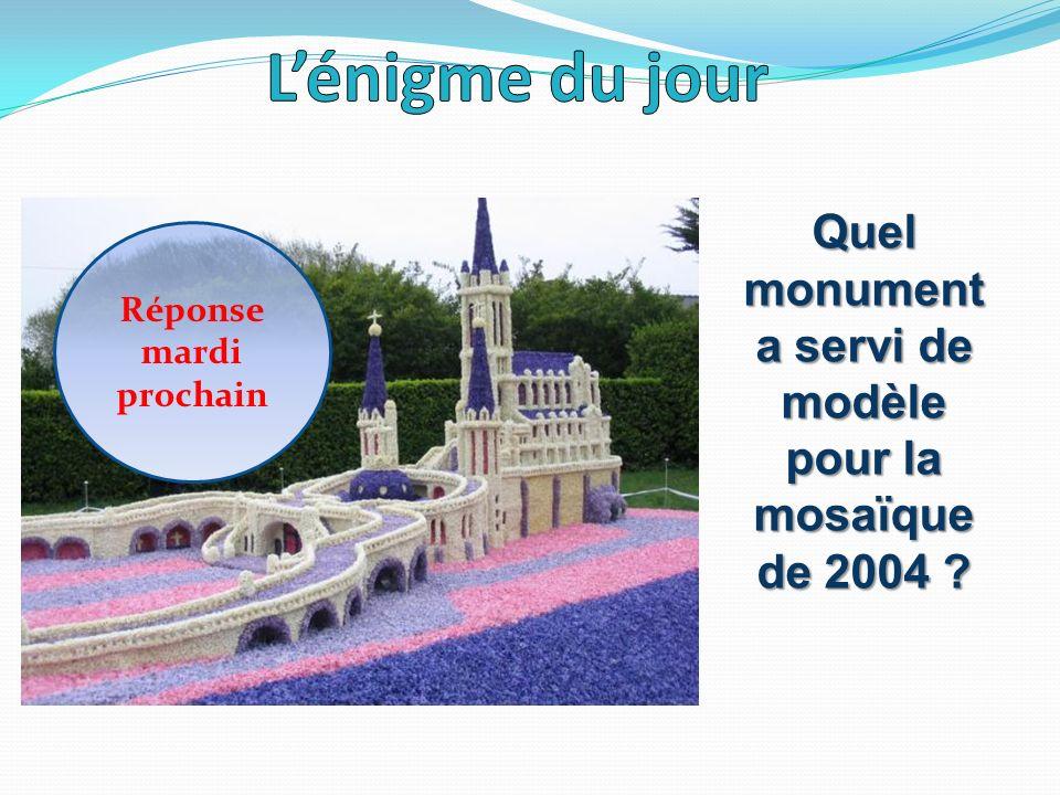 Réponse mardi prochain Quel monument a servi de modèle pour la mosaïque de 2004 ?