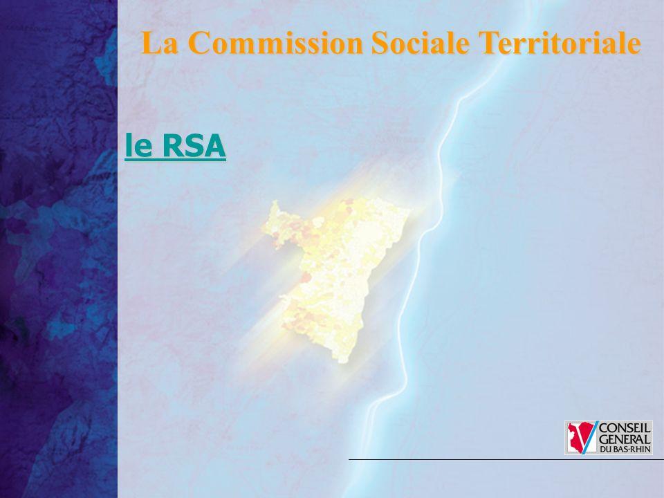 le RSA le RSA La Commission Sociale Territoriale