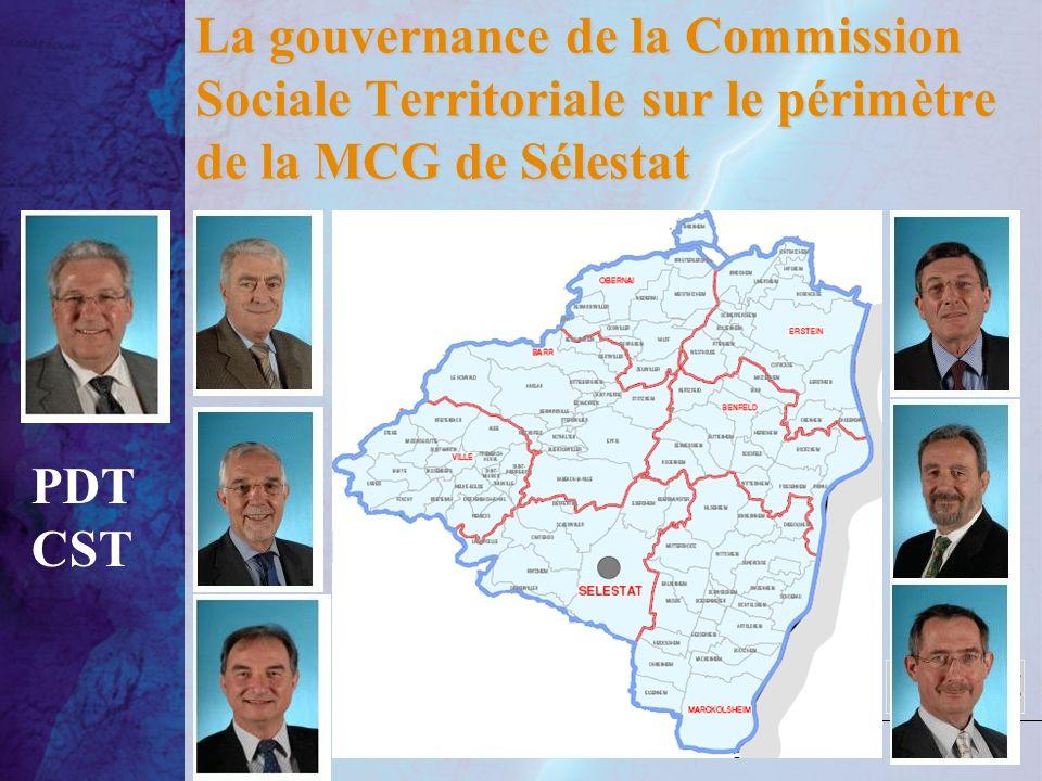 La gouvernance de la Commission Sociale Territoriale sur le périmètre de la MCG de Sélestat PDT CST