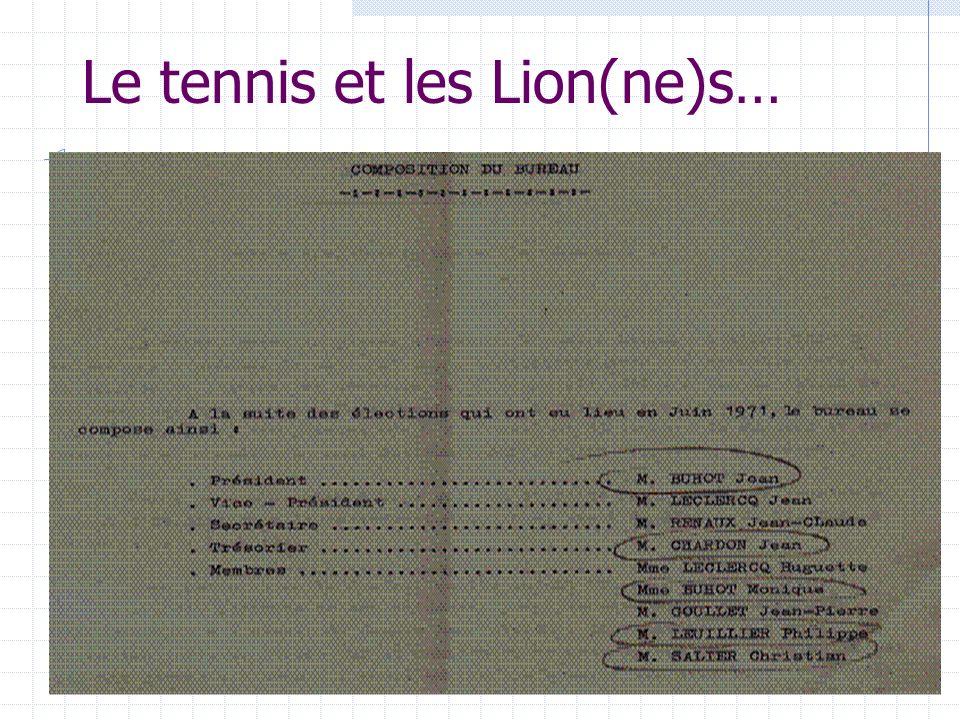 Le tennis et les Lion(ne)s…