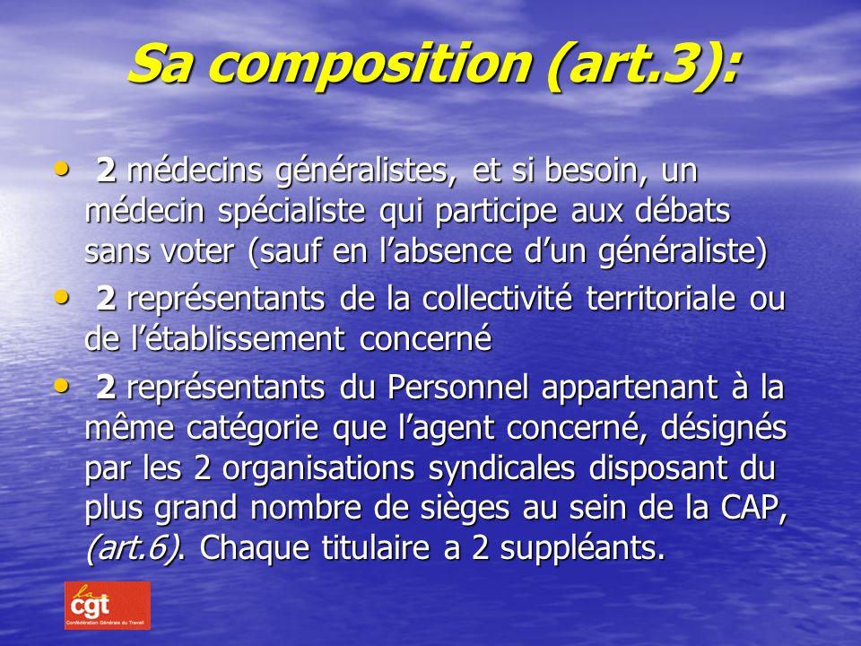 SA CONSTITUTION La commission de réforme est instituée dans chaque département par arrêté du Préfet (art.2) Le Préfet désigne le Président quil choisi