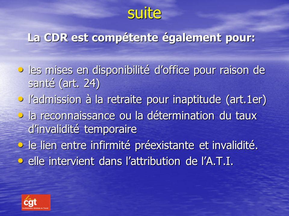 l'imputabilité au service est reconnue par la commission de réforme postérieurement à la date de la radiation des cadres l'imputabilité au service est